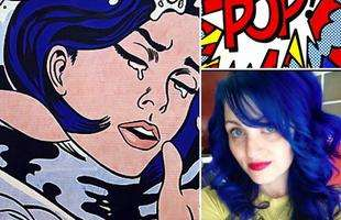 Baseado na pop art do pintor Roy Lichtenstein
